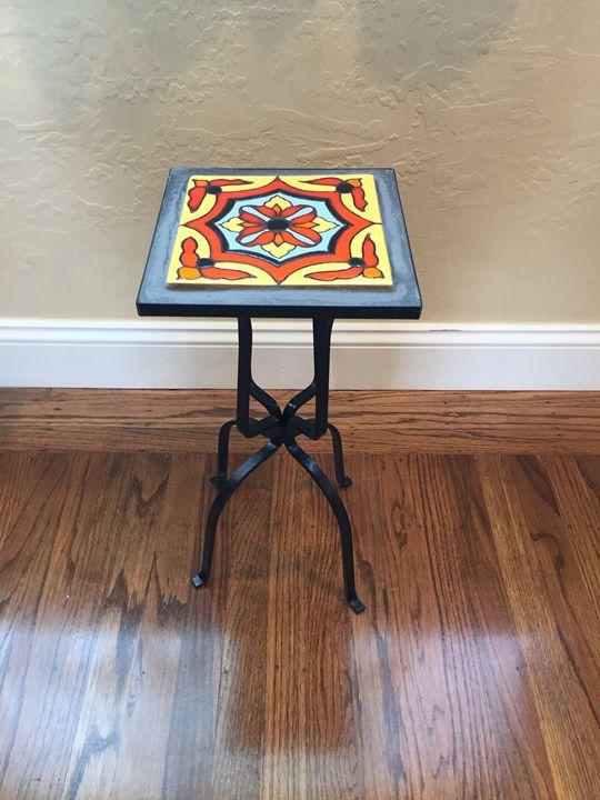 Tile Top Table #3 - Pacifica Tiles
