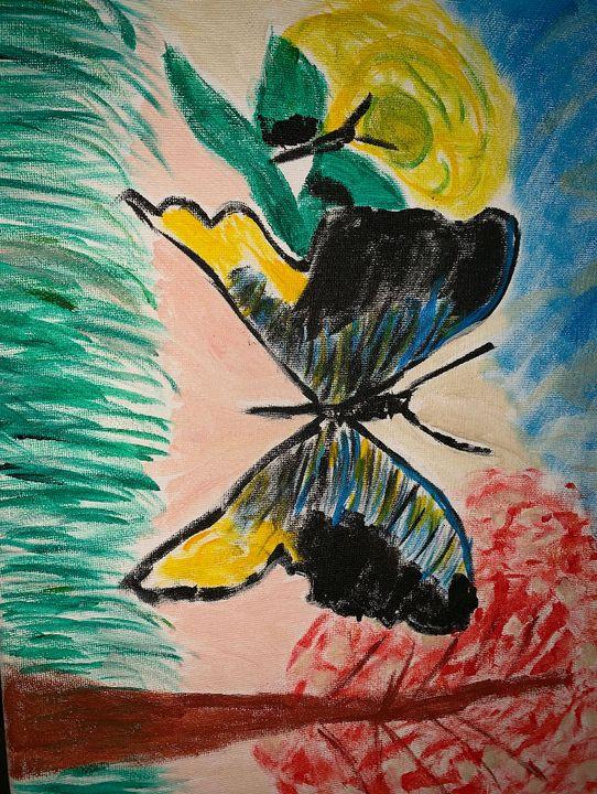 Butterflies - Linda's painting