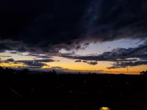 High contrast sunset