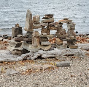 Rock Cairns By The Locals
