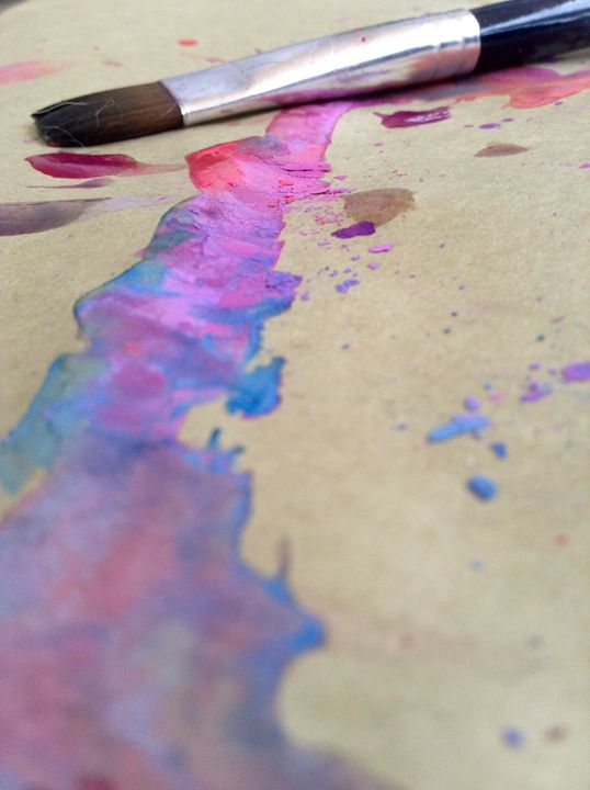 """Spilled watercolor"" - River's Art"