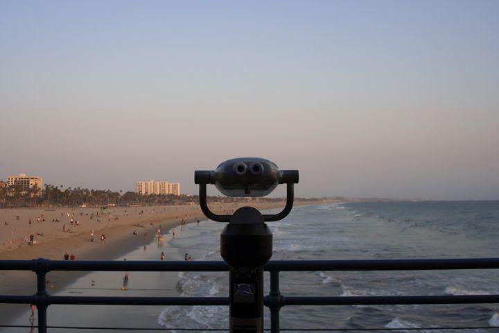 """""""Santa Monica beach"""" - River's Art"""