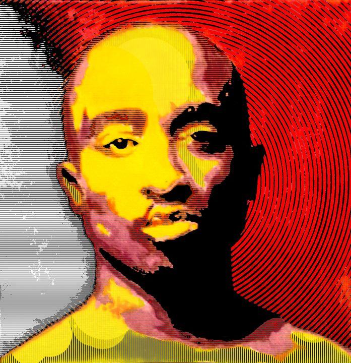 Tupac Digital Portrait - Matt Skinner Art