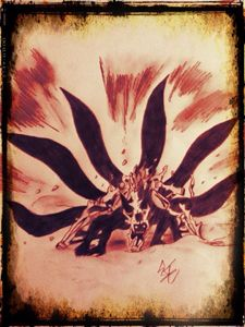Naruto 6 tails bijuu form