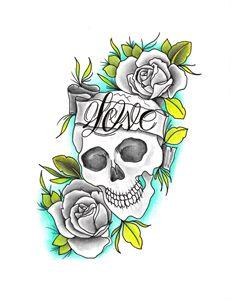 Eternal Love Tattoo Art Print