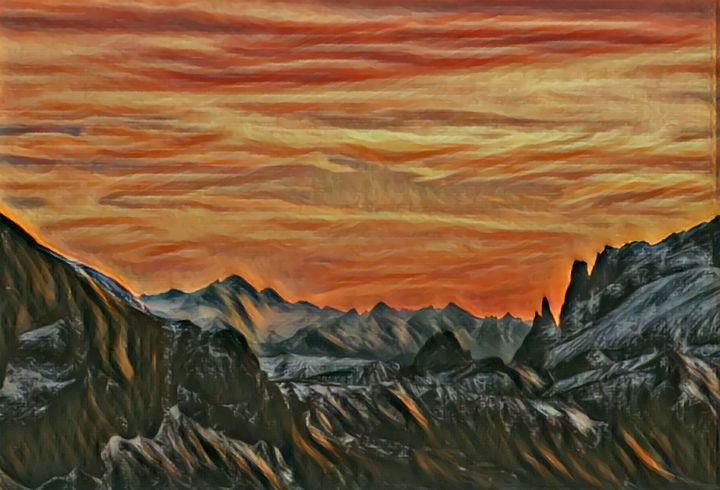 Black mountains - Mountain view