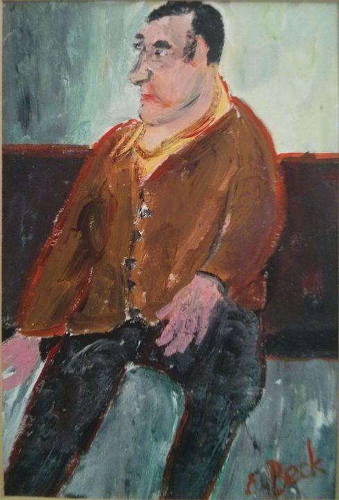 Man. E. Beck. German-Israeli painter - ArtClub