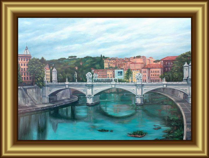 Bridge over the Tiber River in Rome - Valentin Manuelian