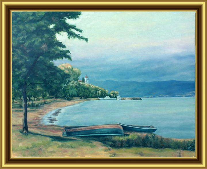 Boats in the Ohrid Lake - Valentin Manuelian