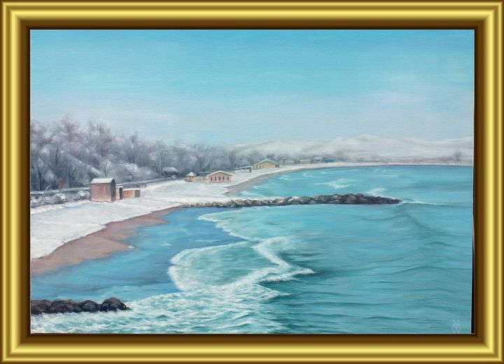 The Beach of Burgas in Winter - Valentin Manuelian