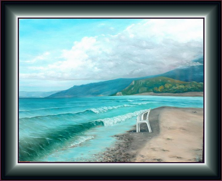 Chair by the Ohrid Lake - Valentin Manuelian