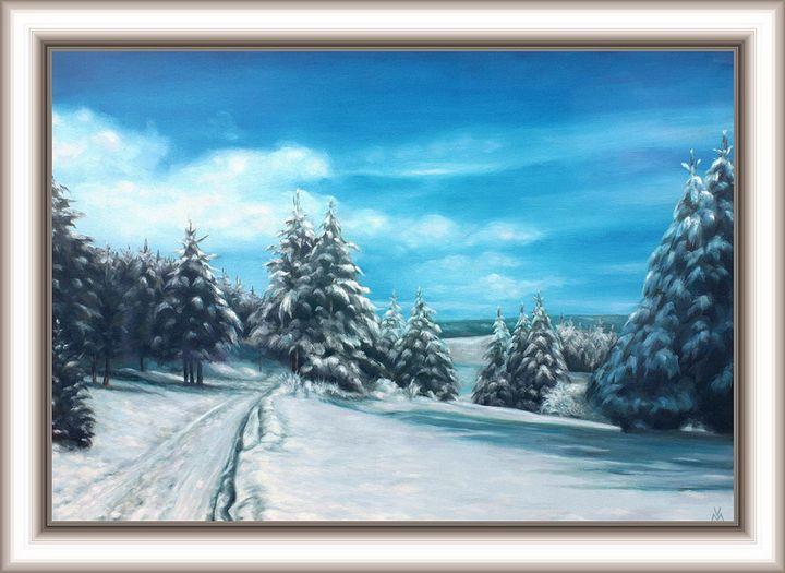 Pine Trees in the Winter - Valentin Manuelian