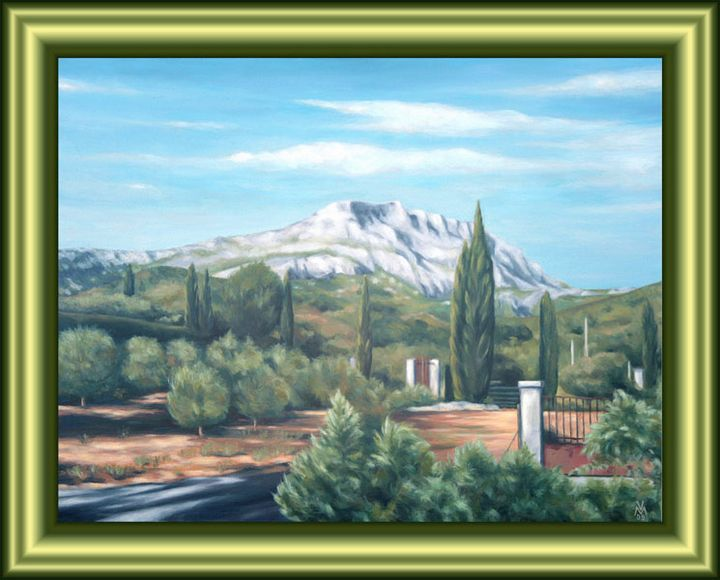 St. Victoire and a Gate in France - Valentin Manuelian