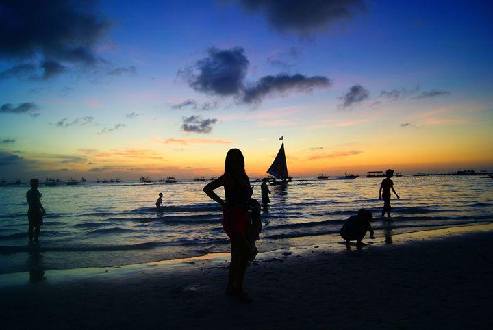 """ Boracay Sunset "" - ( Joe Digital & Co ) art.likesyou.org"