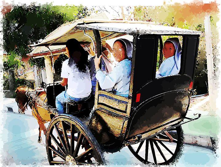 """ Vigan Nuns "" - ( Joe Digital & Co ) art.likesyou.org"