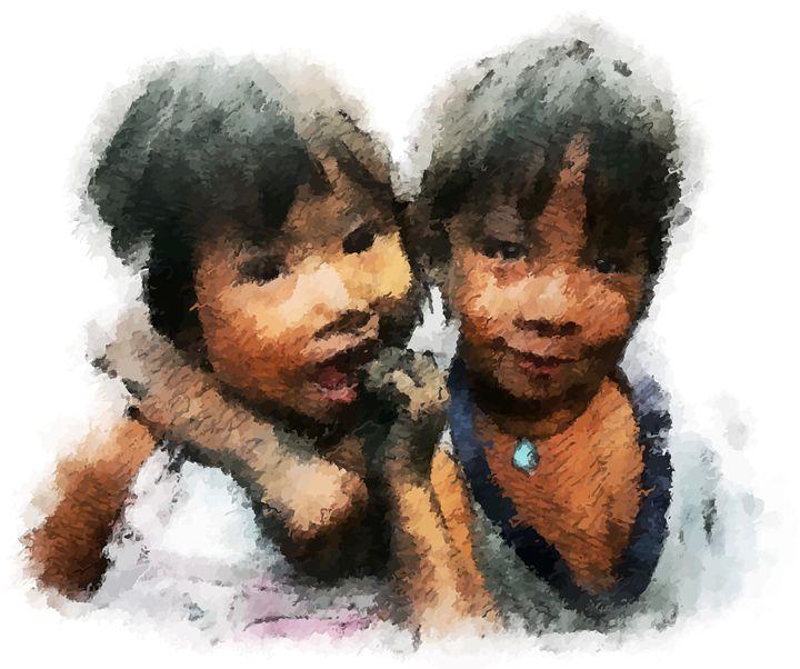 """ Charcoal Children "" - ( Joe Digital & Co ) art.likesyou.org"
