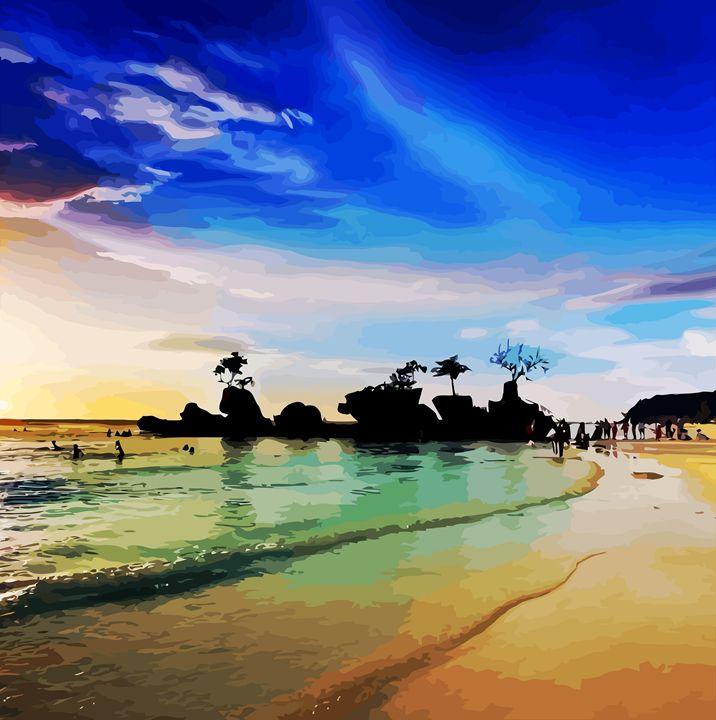 """ Boracay White Beach """" - ( Joe Digital & Co ) art.likesyou.org"