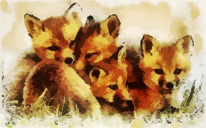 """ Fox Cubs "" - ( Joe Digital & Co ) art.likesyou.org"