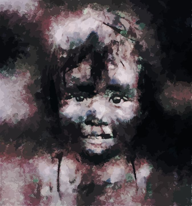 """ Charcoal Girl "" - ( Joe Digital & Co ) art.likesyou.org"
