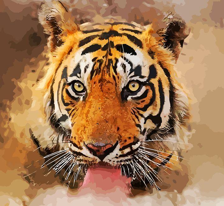 """ The Tiger "" - ( Joe Digital & Co ) art.likesyou.org"