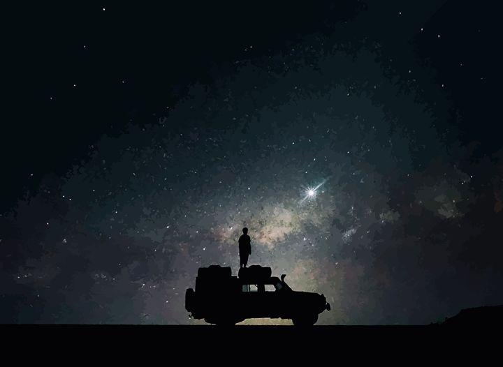 """ Night Skies "" - ( Joe Digital & Co ) art.likesyou.org"