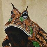 Original acrylic on plywood painting
