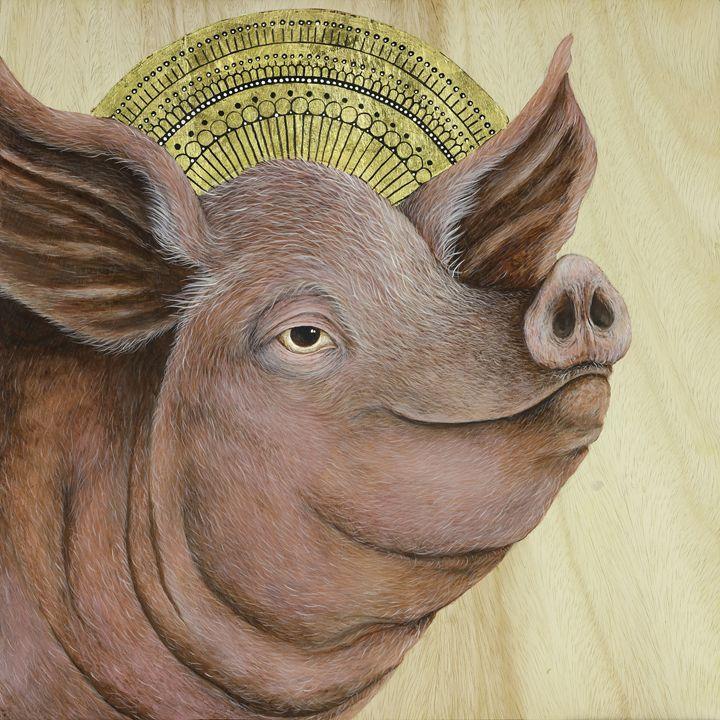 ST. SUS: Patron Saint of Hogs - Skee Goedhart Fine Art