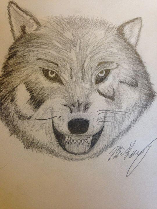 Angry wolf - Kira Presley's art