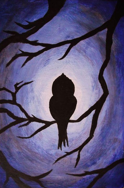 Mysterious Bird - Achraf BENBA painting