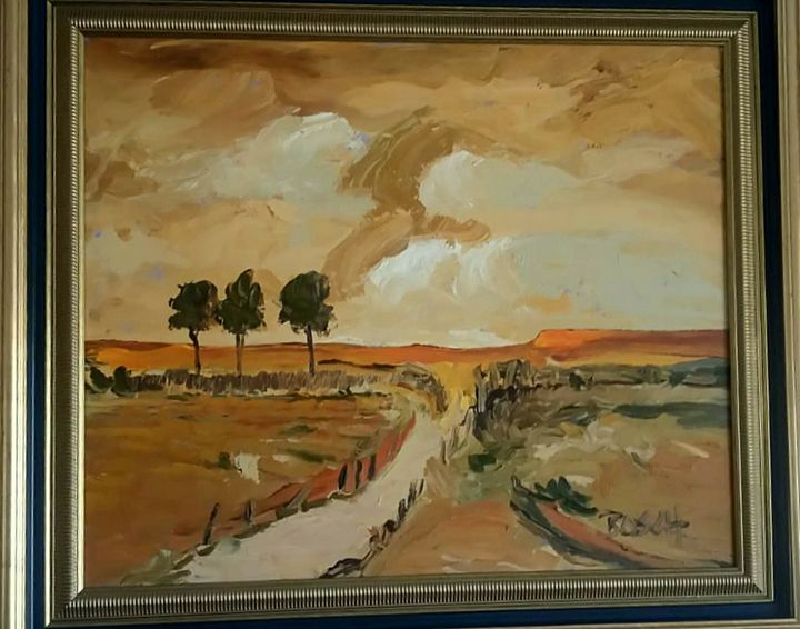 Oil painting by Cornelius Bosch - Toytjie