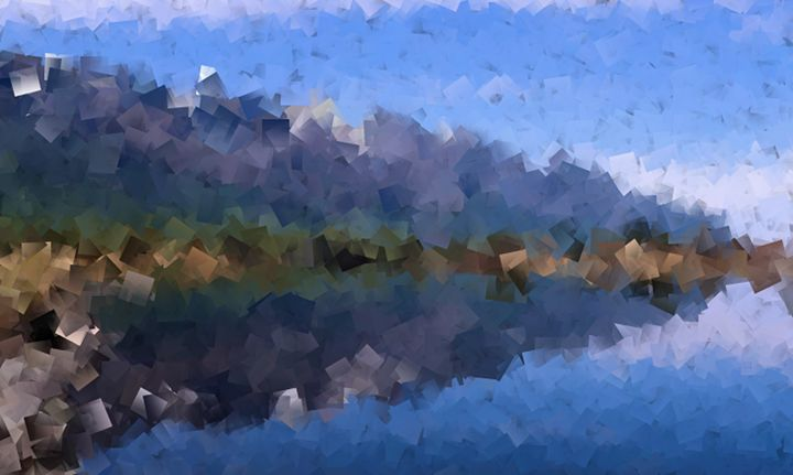 Mountain Lake Cubism - Blaine Chitwood