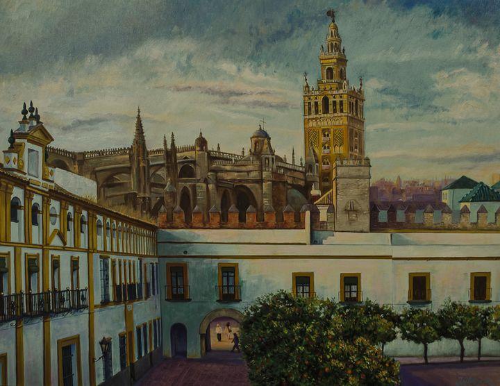 Giralda and patio de banderas - Jose Miguel Blanco