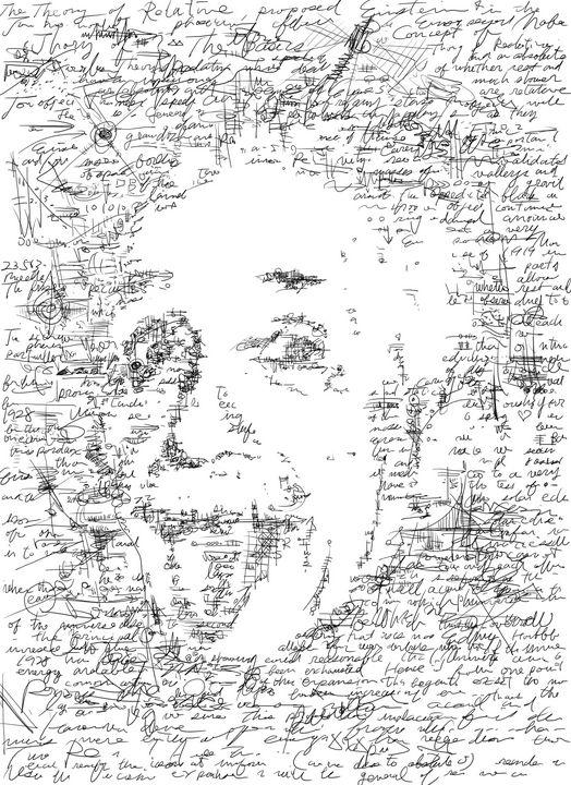 Einstein's thought illustration - HIROSHI UEDA
