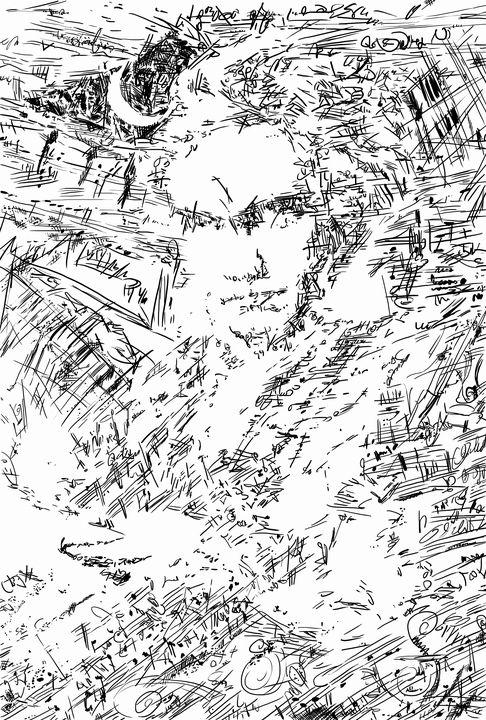 Beethoven's thought illustration - HIROSHI UEDA