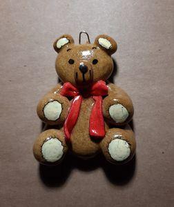 Handmade Teddy Bear Dough Ornament