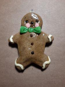 Gingerbread Man Dough Ornament