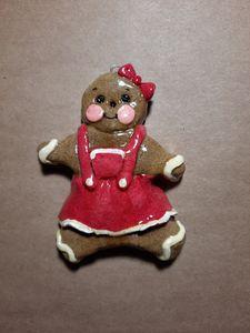 Gingerbread Girl Dough Ornament