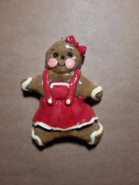 Gingerbread Girl Dough Ornament - Panoramic Palette
