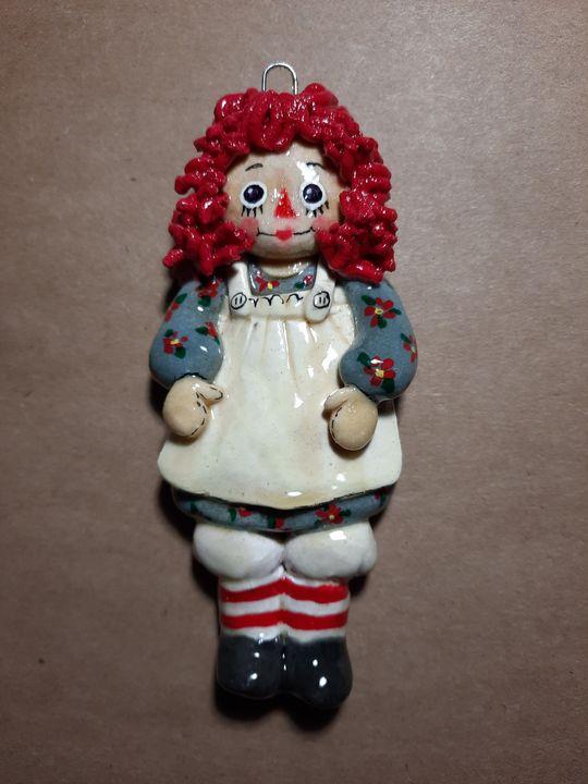 Raggety Ann Doll Ornament - Panoramic Palette