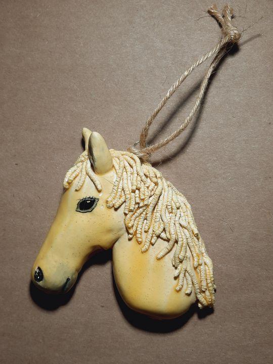 White Horse Ornament - Panoramic Palette