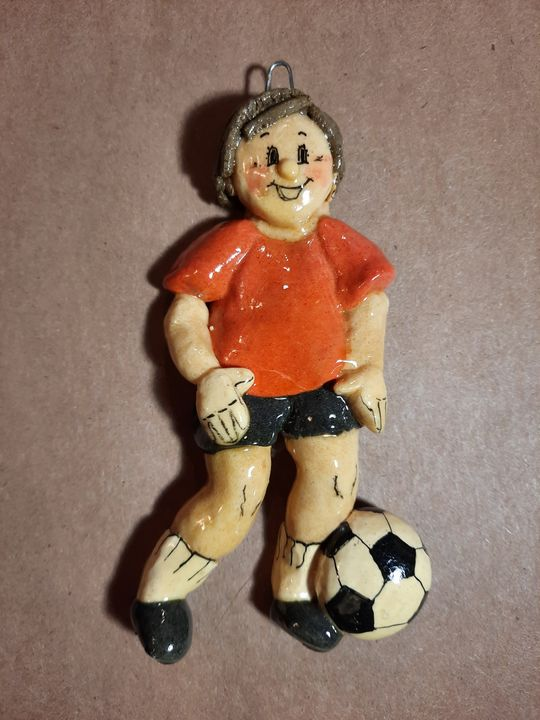 Soccer Player Ornament - Panoramic Palette