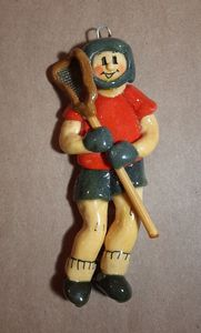 Male Boy Lacrosse Player Ornament - Panoramic Palette