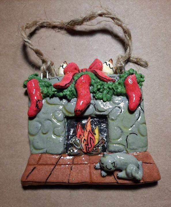 Fireplace Dough Ornament - Panoramic Palette