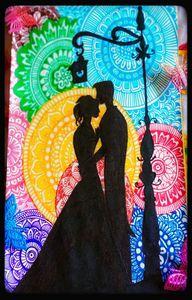 Colorful Couple Mandala Art