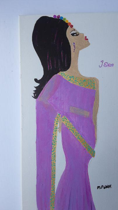 Chakra girl,I see - Artbypetrina