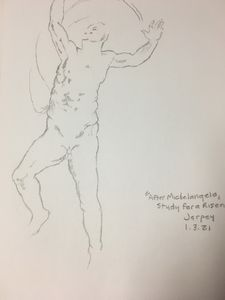 """""""Study for a Risen Christ"""""""