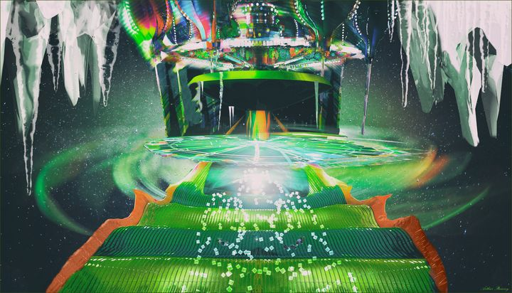 Alien Ice - Art by Arthur Ramsey