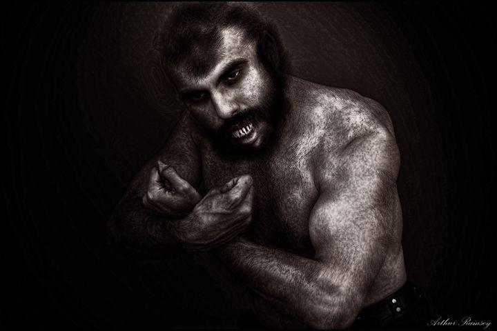Portrait of a Werewolf Morphing 2014 - Art by Arthur Ramsey