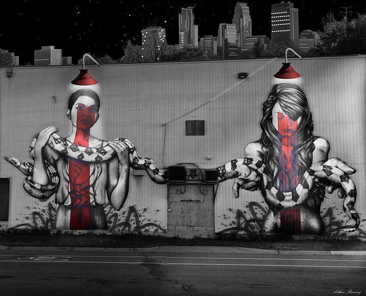 Unseen Side of Minneapolis MN - Art by Arthur Ramsey
