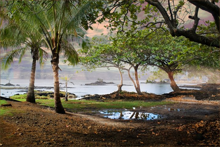 Hilo Hawaii Dawn of New Day - Art by Arthur Ramsey
